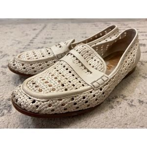 Sam Edelman Leora Ivory woven leather loafers